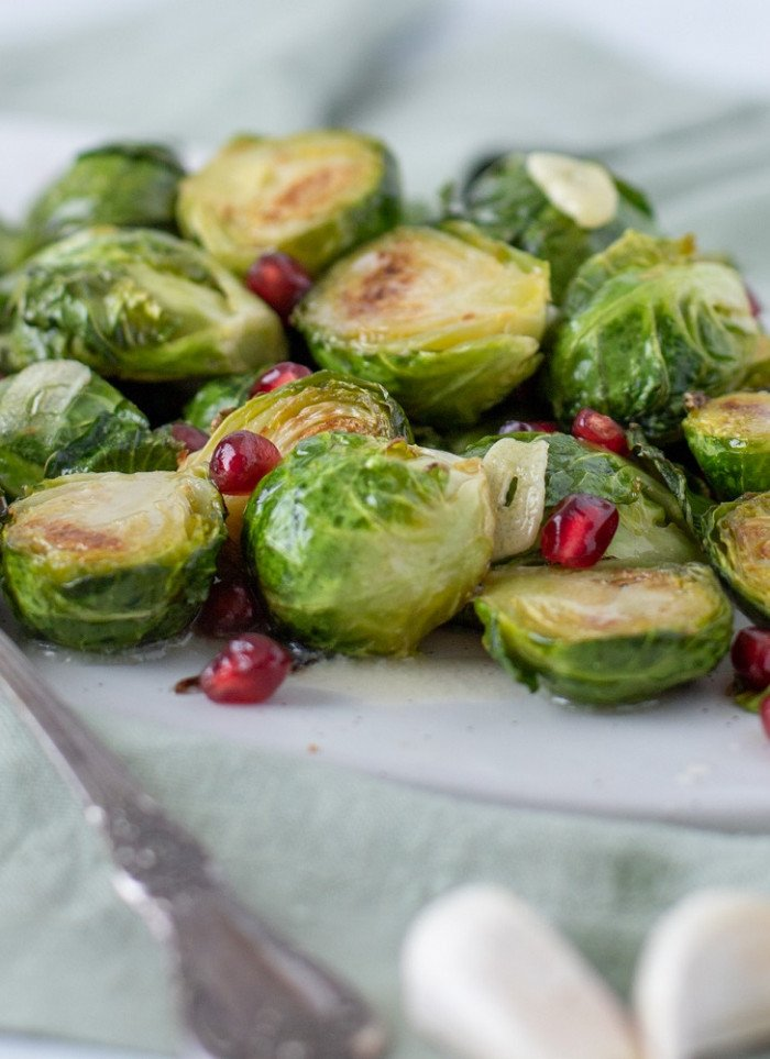 Roasted Brussels Sprouts with       Vanilla-Garlic Butter