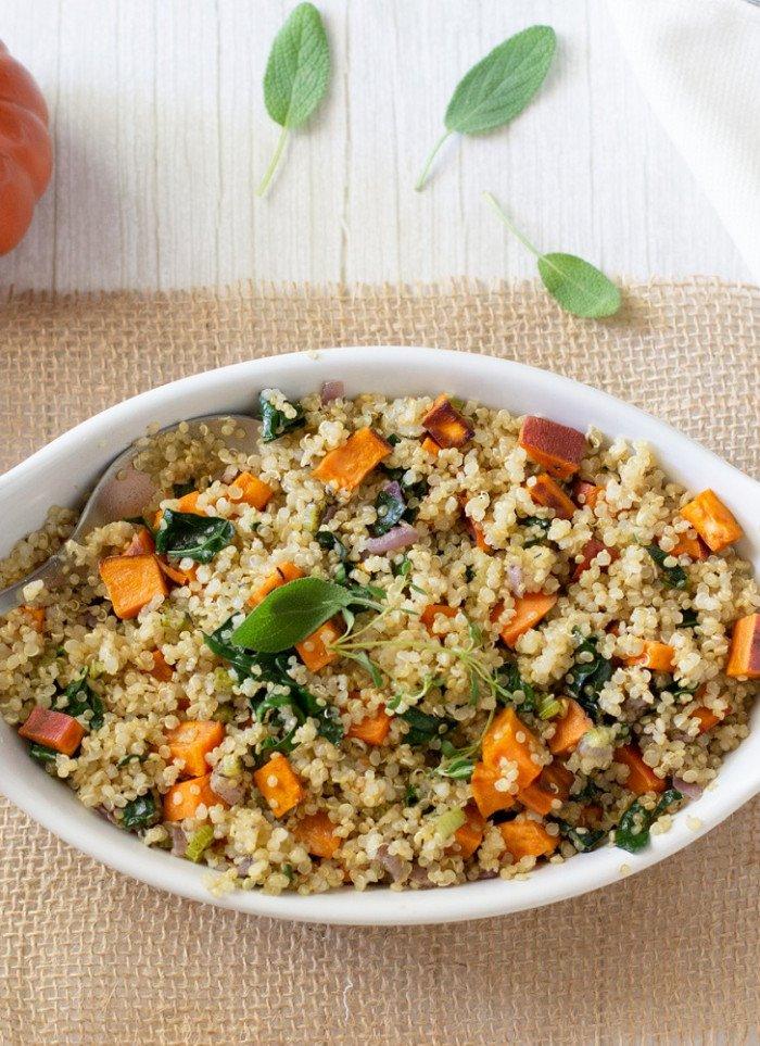 Quinoa Yam Stuffing