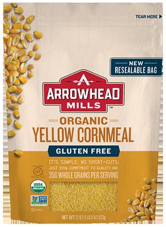 Organic Gluten Free Yellow Cornmeal – Arrowhead Mills