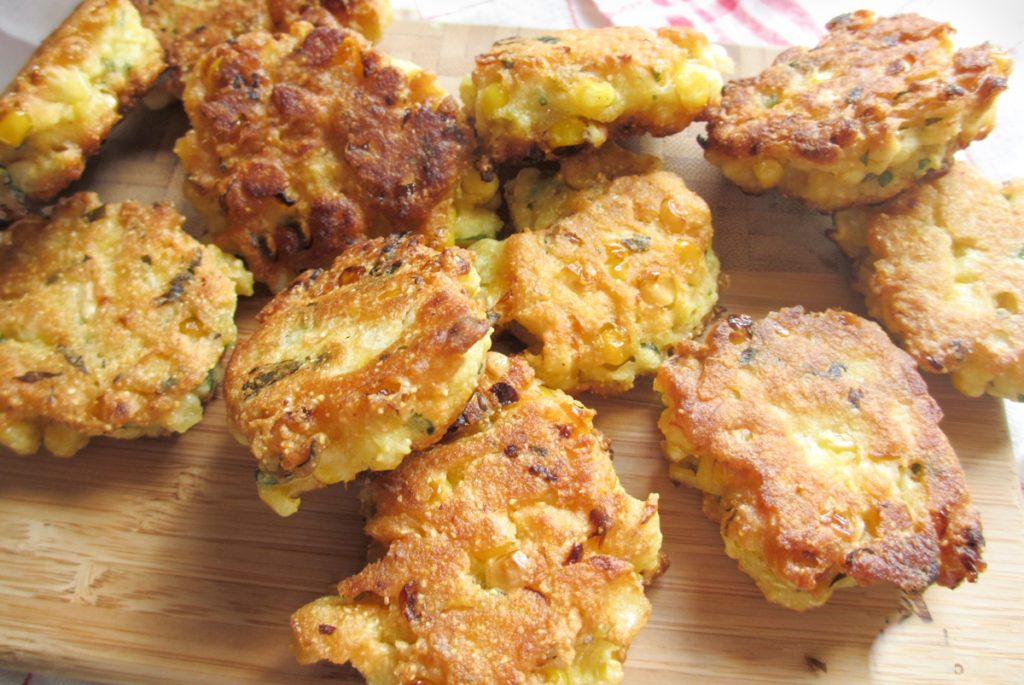 gluten-free corn fritters, recipe, cooking lessons, gluten-free chef