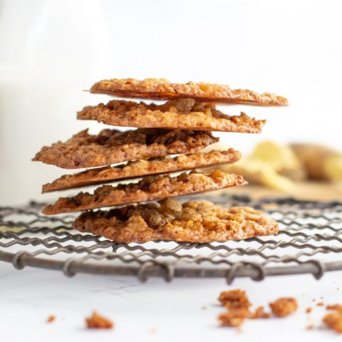 ginger lace cookies, gluten free, gluten free chef