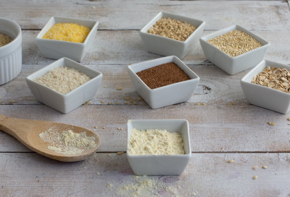 gluten free grains, teff, sorghum, millet, oats, rice