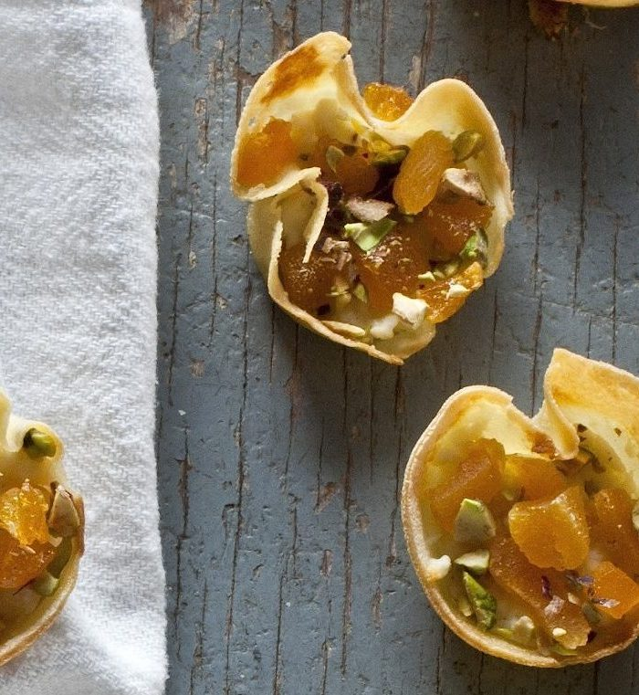 Gluten-Free Tartlettes with Feta and Apricot