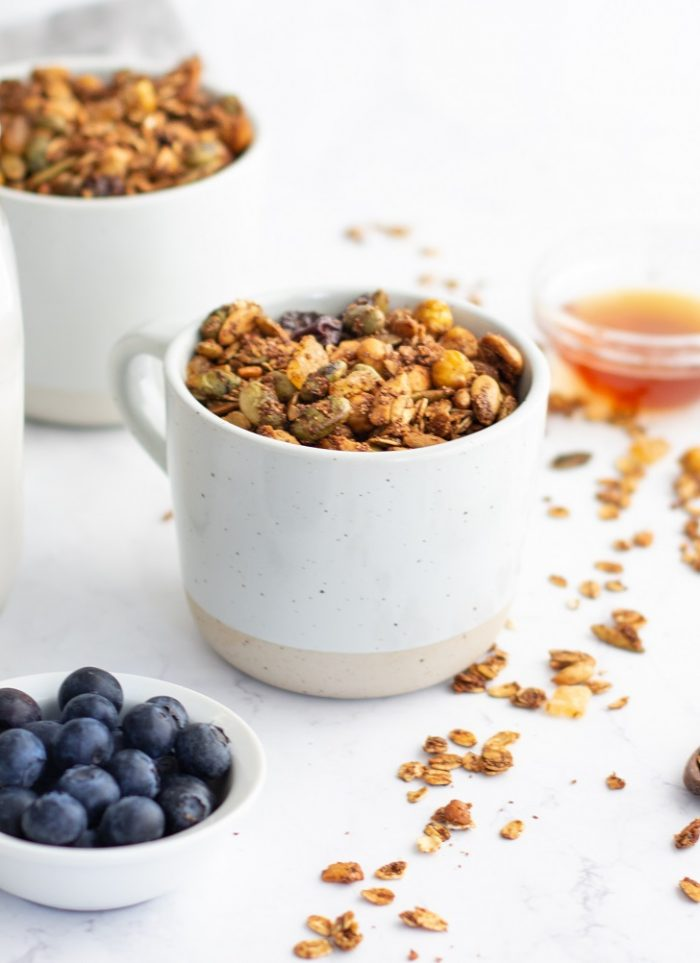 Gluten-Free Granola (Lower Sugar Higher Protein)