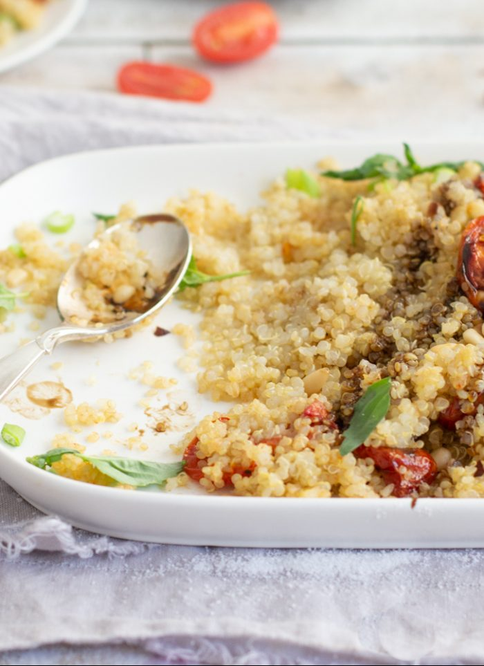 Roasted Tomato Garlic Quinoa
