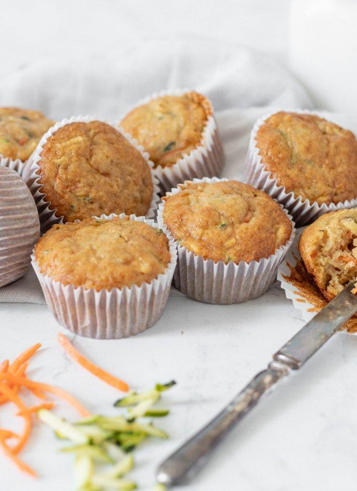 Zucchini, Carrot, Apple Muffins (Gluten-Free)