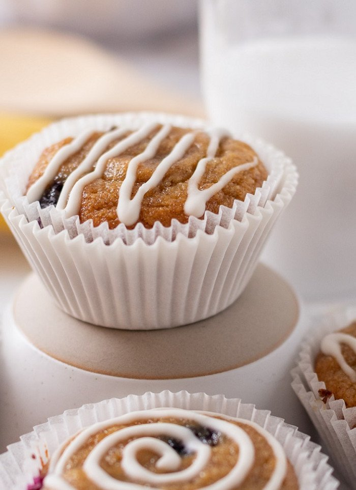 Gluten-Free Banana Blueberry Muffins (Grain-Free)