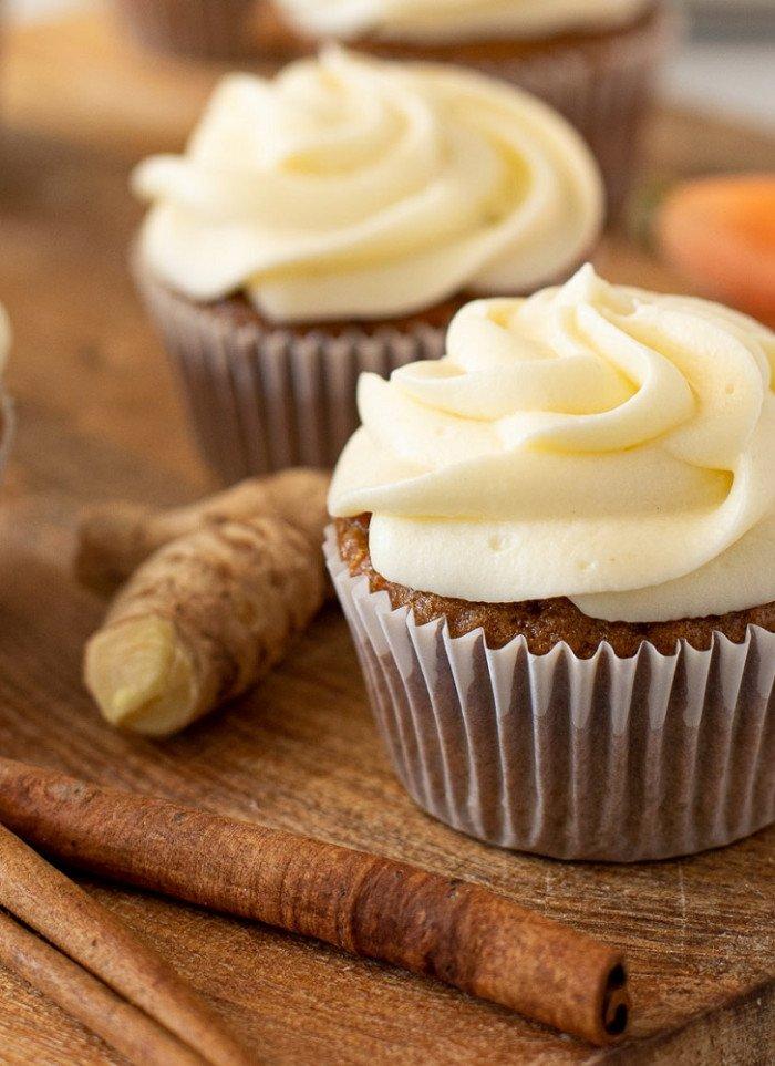 Fluffy, Moist Carrot Cake Cupcakes (Gluten-Free)