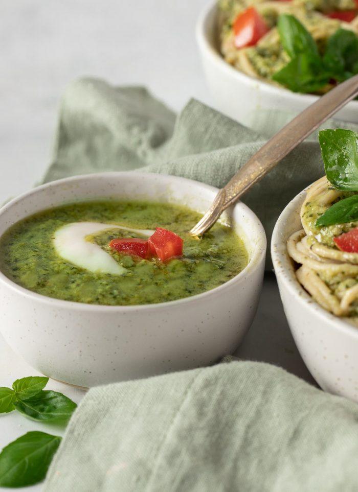 Vegan Creamy Pesto Pasta