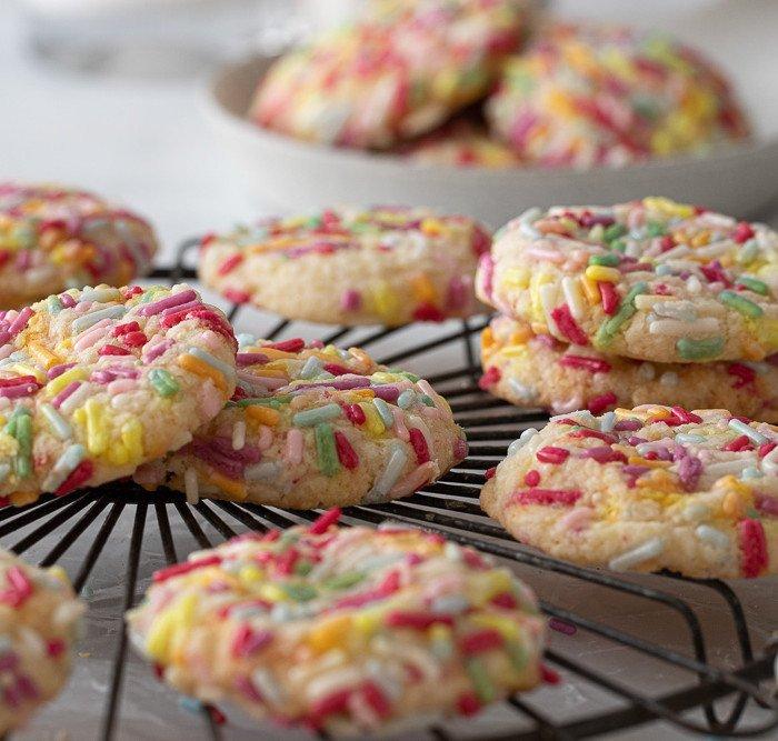From Scratch Gluten-Free Funfetti Cookies