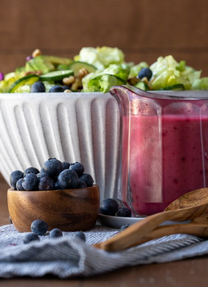 Blueberry Vinaigrette in 5 Minutes