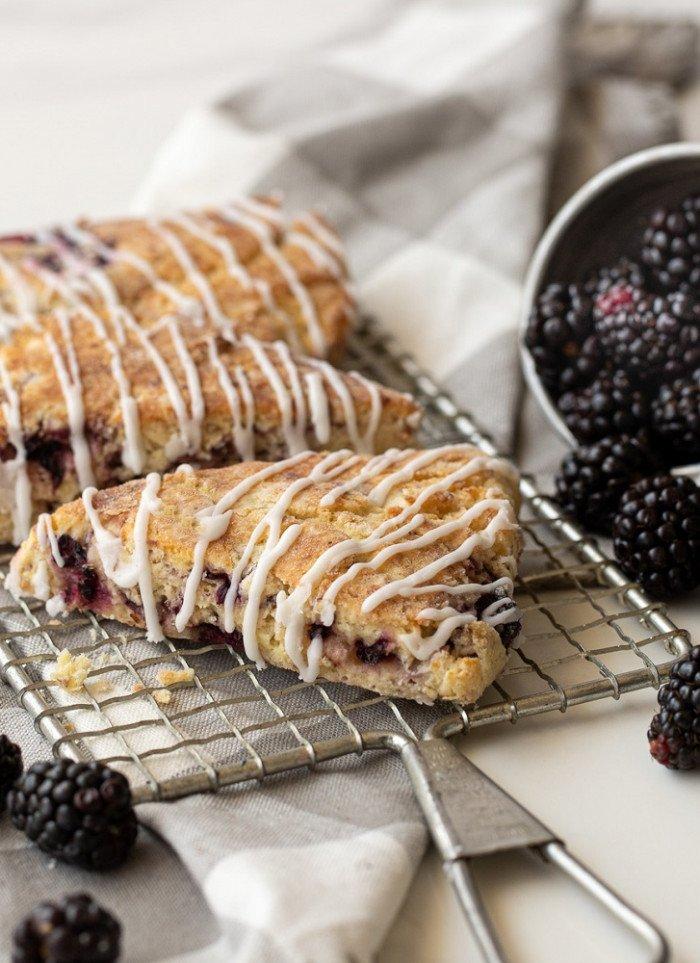 Gluten-Free Blackberry Scones