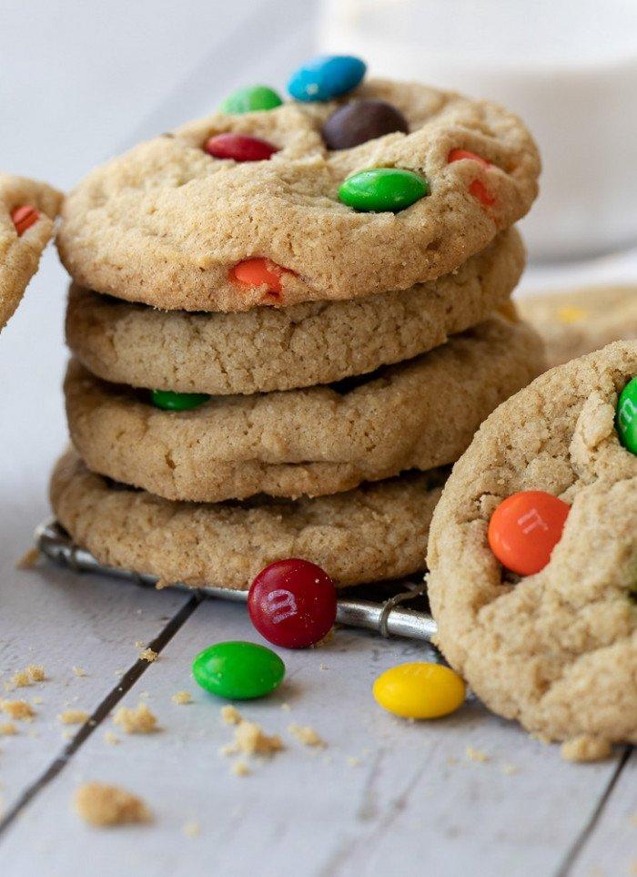 Soft Gluten-Free M&M Cookies
